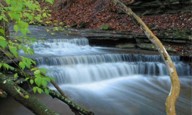 small flowing waterfall